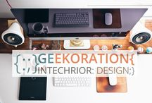 Geekoration {:;} Intechrior Design / Another way to create comfortable, functional interior spaces. Where the #design, the #decoration and the #technology are mixed to enjoy your {geek} passion. ;)