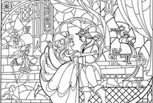 fairytale colouring page