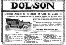 "Dolson Car Ads / The Dolson was a brass era automobile manufactured in Charlotte, Michigan by the J.L. Dolson & Sons from 1904 to 1907. They later changed the company name to the Dolson Automobile Company. The Dolson was a large car with a 60-horsepower engine. They offered a seven-seater touring car, that in 1907 cost US$3,250. It was advertised as the ""Mile-a-Minute"" car. They also offered smaller vehicles, with chain- and shaft-driven 20 hp flat-twins, and a shaft driven four of 28/30-horsepower."