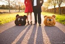 Engagement shoot in the Cotswolds / A different kind of portrait shoot in the Cotswolds featuring bear heads. Photographed by Ann-Kathrin Koch www.annkathrinkoch.com