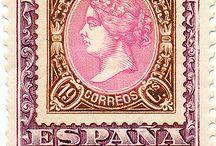 Sellos Españoles 1850 - 1870  Isabel II