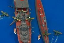 Schiffsmodelle waterline  (ship model-kits) / diverse Schiffe, meist in 1:700