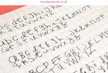 Writing, fonts etc