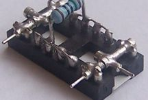 Amatérská stavebnice z 16-pinových patic / Amateur kit from 16-pin IC sockets