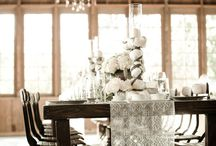 Wedding: Tablescapes, runners / #tablescapes #runners #centerpieces
