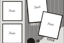Scrapbooking:  sketches 4+ photos
