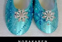 Frozen / Wedding Shoes and Unique shoes Hand painted accessories Find at http://www.norakaren.com or request a custom pair at norakaren2002@yahoo.com / by Norakaren