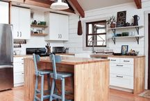 Eat...Be Inspired / The kitchen is often the center of the Home, make the time to create your dream space that incorporates Upcycled Wood
