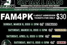 Spartans Promotions / Support your Green, Black, and White