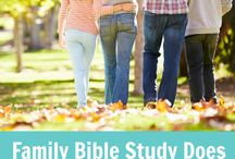 Family Bible Study / Together, help your family grow in faith with practical Bible Study resources for kids of all ages!