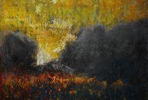 CRETAN LANDSCAPE, 35X35, OILPASTEL ON PAPER,2016