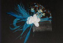 peignes cheveux mariage en couleur
