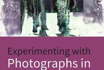 photos and encaustic