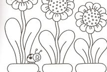 coloring pages 47 (bugs+flowers)