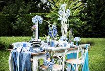 Tischdekoration & Rezepte in blau / Tischdekoration in Blautönen: hellblaue Deko, dunkelblaue Torten und vieles mehr. Deko und Rezeptideen für einen Tisch in Blau. Blaue Tischdeko & Rezepte.