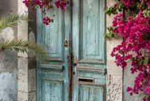 Blue doors and lovely entries