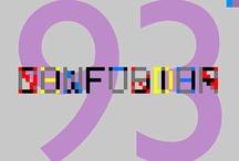 Posmodernismo - Tipografía / Recopilatorio de algunas Tipografías utilizadas o creadas en el Posmodernismo - (Fundamentos de Diseño)