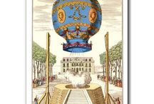 Vintage hot air balloons / Antique pictures of amazing hot air balloons and gas balloons