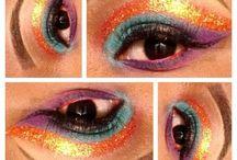 Glitter Eyemakeup / Creative glitter eye-makeup designs