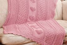 Crocheted & Knitted Afghans & Misc.