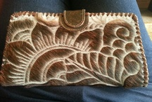 Leather accessories and art / Leather ART.  Tanne Creaions by Cindy M Other leather pieces which inspire me art work