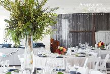 Wedding Centerpieces by Andrew's Garden