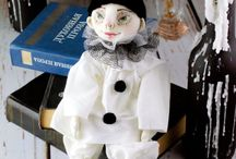 Interior textile doll Pierrot