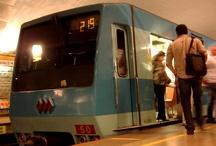 Metro de Santiago de Chile hecho en CONCARRIL MEXICO / mensajes buenos diad