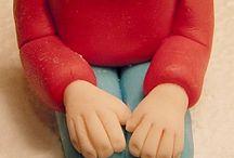 Making figures in sugar paste