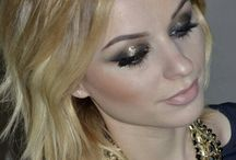 Gold eyes makeup