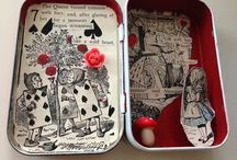 I Sea The Moon / Handmade art from found items, altered Altoid tins and other unique treasures. I also use craft paper, pastels, watercolors, oil and acrylic paints.     Check back often for new art and thrift/antique items.    / by Patricia H