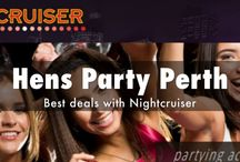 Hen Party Perth, WA / HENS NIGHT OR ARVO TOUR WITH NIGHTCRUISER - Perth Be assisted by the original and professional Nightcruiser Crew for your affordable all night Hens Party like no other.   We give you professional assistance instantly and backed with 20 years of experience. An exclusive list of free booked VIP entry, drink deals with cheap cocktails and $100 bar gift vouchers can also be yours.