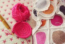 Crochet - couvertures  et coussins ; blankets & cussions