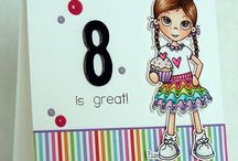 Little Miss Muffet cards