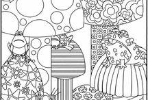 Coloring fun for kids / Mandalas, Zentangels, oder einfach schöne Ausmalbilder, die Spaß machen.