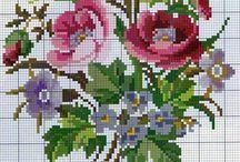 """вышивка крестом """"цветы"""""""