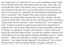 Hermoine and Ron