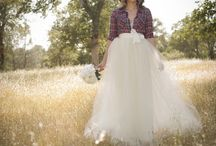Wedding Skirts / The Perfect Wedding Separates in Tulle Long and Elegant or Short and Modern for the fashionable Bride / by Dark Pony Designs