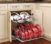 Saucepans & lids storage