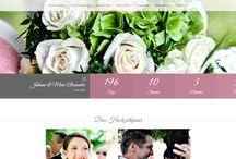 Hochzeitshomepage, Hochzeitsseite