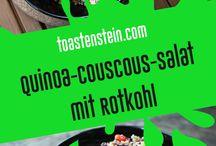 Salat-Monster // salads / Hier findet ihr unsere Rezpte für frisches Salate! // here you can find our recipes for fresh salads! // www.toastenstein.com