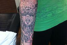 Tattoos from Halley Mason.  / Tattoos from Halley Mason.