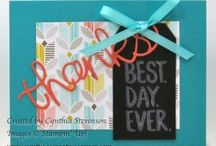 Sale-A-Bration from Stampin' Up! / Project ideas from Cynthia's Creative Corner