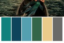 Mermaid Magic / An exploration of color starting with one photo's palette and spreading into an entire mood board.