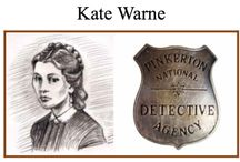 Kate Warne, America's first female private detective