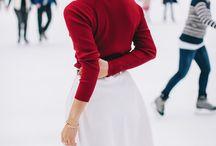 Ледовый каток, катание на коньках, одежда   Зимние наряды