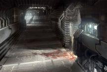 CDZ Space Environments / CDZ sci-fi setting environment concepts