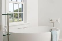 Bath love / bathroom decor, tiling, sinks, tubs, storage