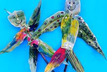 KIDS ART AND CRAFT: Nature / Nature-themed arts and crafts for kids