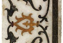 motifs iraniens sur marbre